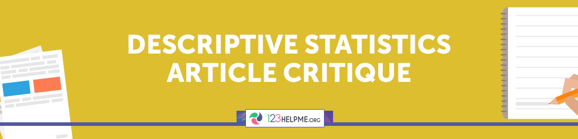 Descriptive Statistics Article Critique