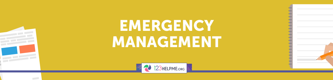 Emergency Management Sample Essay
