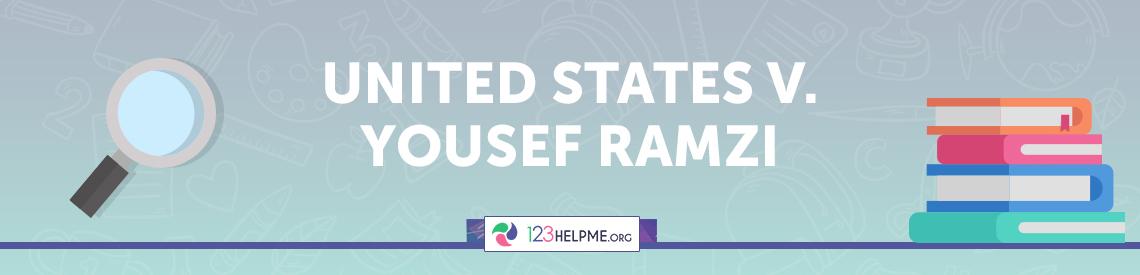United States v. Yousef Ramzi