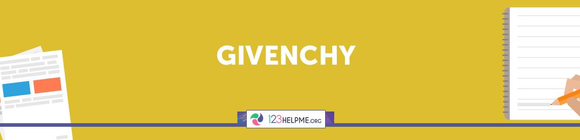 Givenchy Descriptive Essay