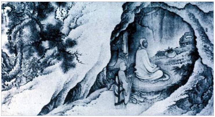 "Dai Jin. ""Huike Presenting His Severed Arm to Bodhidharma"""