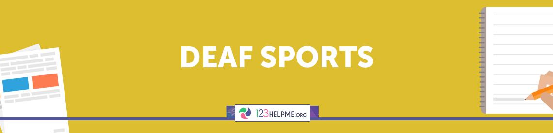Deaf Sports