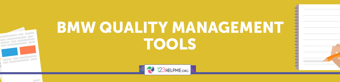 BMW Quality Management Tools