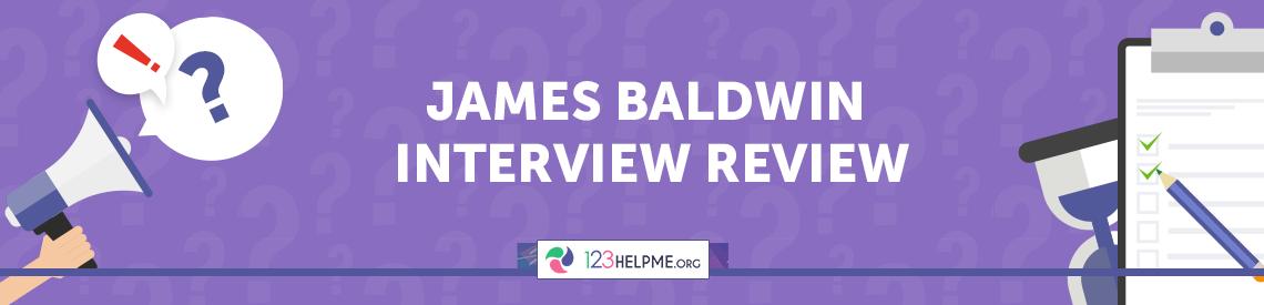 James Baldwin Interview Review